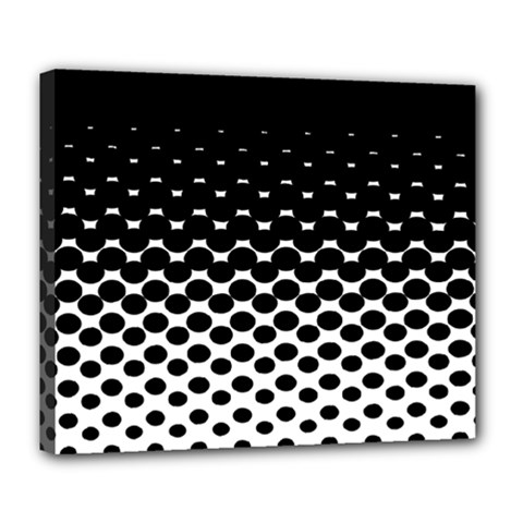 Halftone Gradient Pattern Deluxe Canvas 24  X 20   by Simbadda