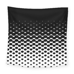 Halftone Gradient Pattern Square Tapestry (large)