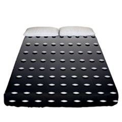 Gradient Oval Pattern Fitted Sheet (king Size) by Simbadda