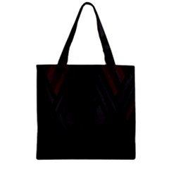 Abstract Dark Simple Red Zipper Grocery Tote Bag by Simbadda