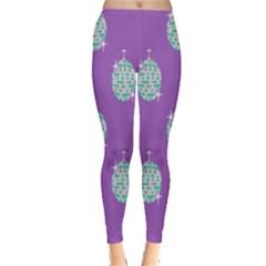 Disco Ball Wallpaper Retina Purple Light Leggings  by Alisyart
