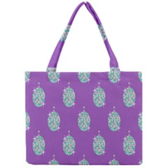 Disco Ball Wallpaper Retina Purple Light Mini Tote Bag by Alisyart