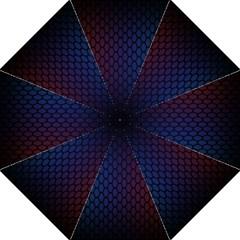 Hexagon Colorful Pattern Gradient Honeycombs Golf Umbrellas by Simbadda