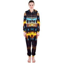 Abstract Led Lights Hooded Jumpsuit (ladies)