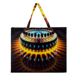 Abstract Led Lights Zipper Large Tote Bag