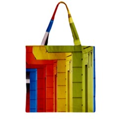 Abstract Minimalism Architecture Zipper Grocery Tote Bag by Simbadda