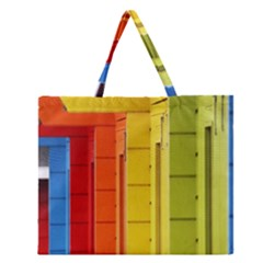 Abstract Minimalism Architecture Zipper Large Tote Bag