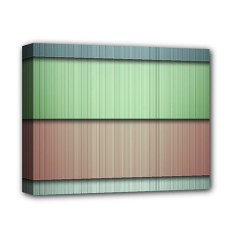 Lines Stripes Texture Colorful Deluxe Canvas 14  X 11  by Simbadda