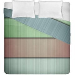 Lines Stripes Texture Colorful Duvet Cover Double Side (king Size) by Simbadda