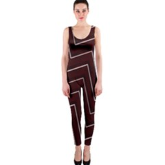 Lines Pattern Square Blocky Onepiece Catsuit by Simbadda