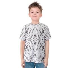 Pattern Monochrome Terrazzo Kids  Cotton Tee by Simbadda