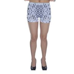 Pattern Monochrome Terrazzo Skinny Shorts