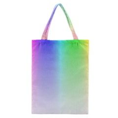 Layer Light Rays Rainbow Pink Purple Green Blue Classic Tote Bag by Alisyart
