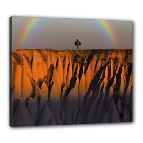 Rainbows Landscape Nature Canvas 24  X 20  by Simbadda