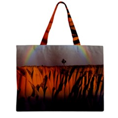 Rainbows Landscape Nature Zipper Mini Tote Bag by Simbadda