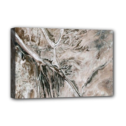 Earth Landscape Aerial View Nature Deluxe Canvas 18  X 12   by Simbadda