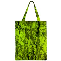 Concept Art Spider Digital Art Green Zipper Classic Tote Bag by Simbadda