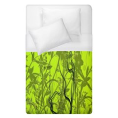 Concept Art Spider Digital Art Green Duvet Cover (single Size) by Simbadda
