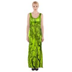 Concept Art Spider Digital Art Green Maxi Thigh Split Dress by Simbadda