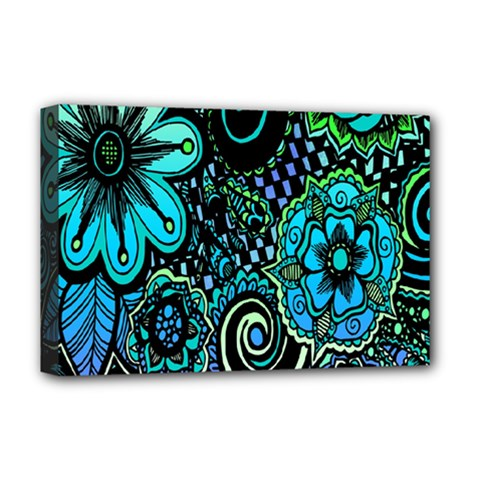 Sun Set Floral Deluxe Canvas 18  X 12   by Simbadda