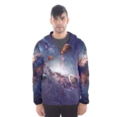 Galaxy Hooded Wind Breaker (Men) by makeunique