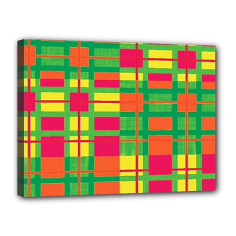Pattern Canvas 16  X 12  by Valentinaart