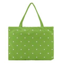 Mages Pinterest Green White Polka Dots Crafting Circle Medium Tote Bag by Alisyart
