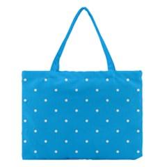 Mages Pinterest White Blue Polka Dots Crafting Circle Medium Tote Bag by Alisyart
