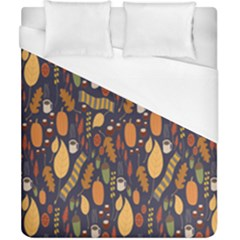 Macaroons Autumn Wallpaper Coffee Duvet Cover (california King Size) by Alisyart