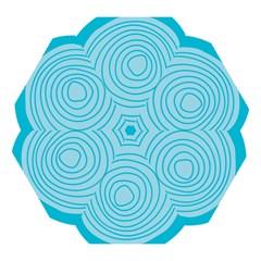 Mustard Logo Hole Circle Linr Blue Mini Folding Umbrellas by Alisyart