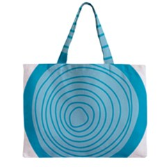 Mustard Logo Hole Circle Linr Blue Mini Tote Bag by Alisyart
