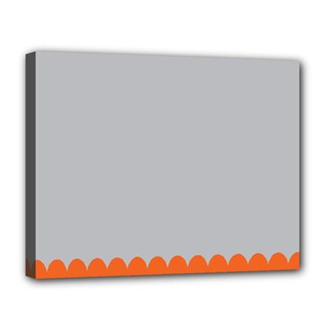 Orange Gray Scallop Wallpaper Wave Canvas 14  X 11  by Alisyart