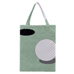 Golf Image Ball Hole Black Green Classic Tote Bag by Alisyart