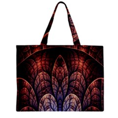 Abstract Fractal Zipper Mini Tote Bag by Simbadda