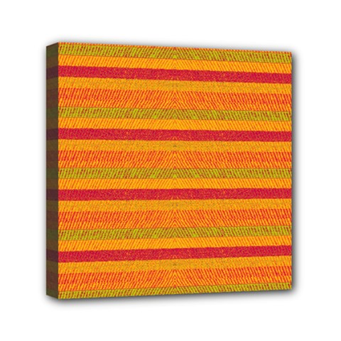 Lines Mini Canvas 6  X 6  by Valentinaart