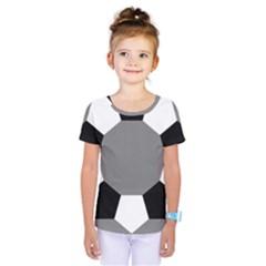 Pentagons Decagram Plain Black Gray White Triangle Kids  One Piece Tee by Alisyart