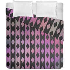 Old Version Plaid Triangle Chevron Wave Line Cplor  Purple Black Pink Duvet Cover Double Side (california King Size) by Alisyart