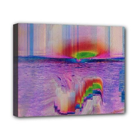 Glitch Art Abstract Canvas 10  X 8  by Simbadda