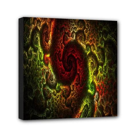 Fractal Digital Art Mini Canvas 6  X 6  by Simbadda