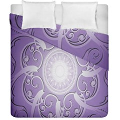 Purple Background With Artwork Duvet Cover Double Side (california King Size) by Alisyart