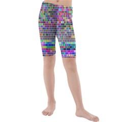 Plasma Gradient Phalanx Kids  Mid Length Swim Shorts by Simbadda