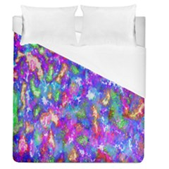 Abstract Trippy Bright Sky Space Duvet Cover (queen Size) by Simbadda