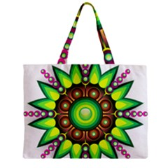Design Elements Star Flower Floral Circle Zipper Mini Tote Bag by Alisyart