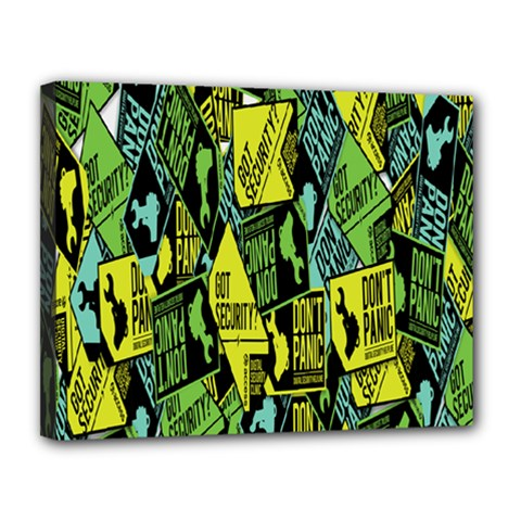 Don t Panic Digital Security Helpline Access Canvas 14  X 11  by Alisyart