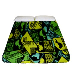 Don t Panic Digital Security Helpline Access Fitted Sheet (king Size) by Alisyart
