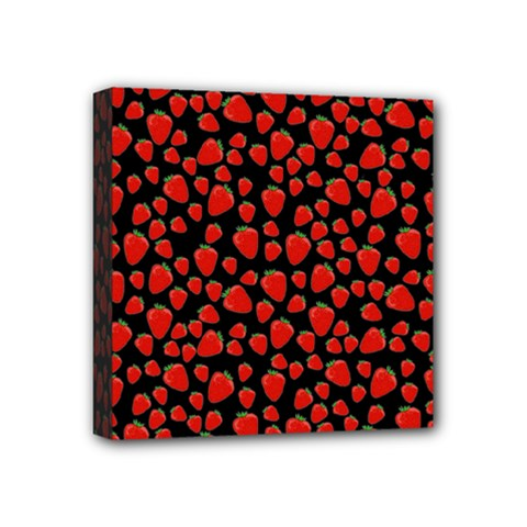 Strawberry  Pattern Mini Canvas 4  X 4  by Valentinaart