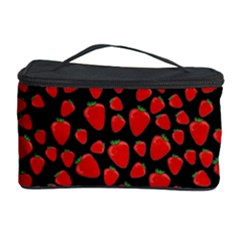 Strawberry  Pattern Cosmetic Storage Case by Valentinaart