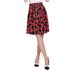 Strawberry  Pattern A Line Skirt by Valentinaart