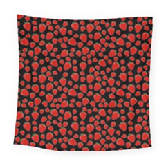 Strawberry  Pattern Square Tapestry (large) by Valentinaart