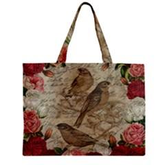Vintage Birds Zipper Mini Tote Bag by Valentinaart